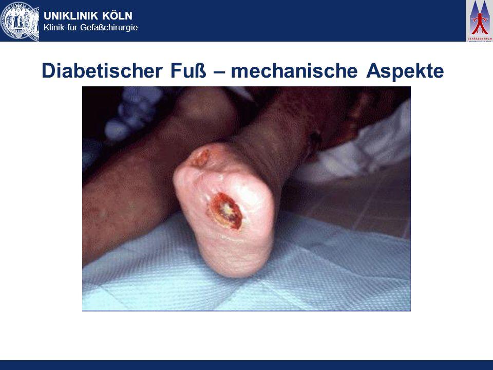 Diabetischer Fuß – mechanische Aspekte