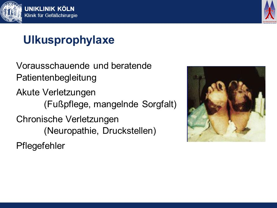 Ulkusprophylaxe Vorausschauende und beratende Patientenbegleitung