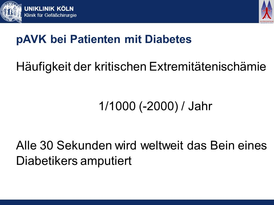 pAVK bei Patienten mit Diabetes
