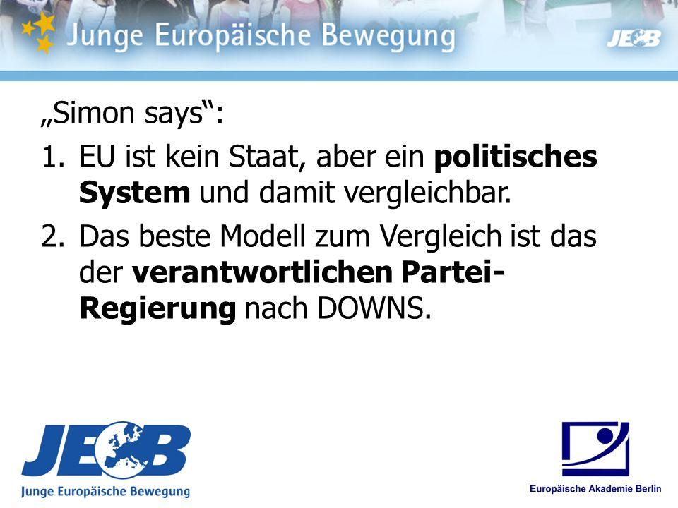 """""""Simon says : EU ist kein Staat, aber ein politisches System und damit vergleichbar."""