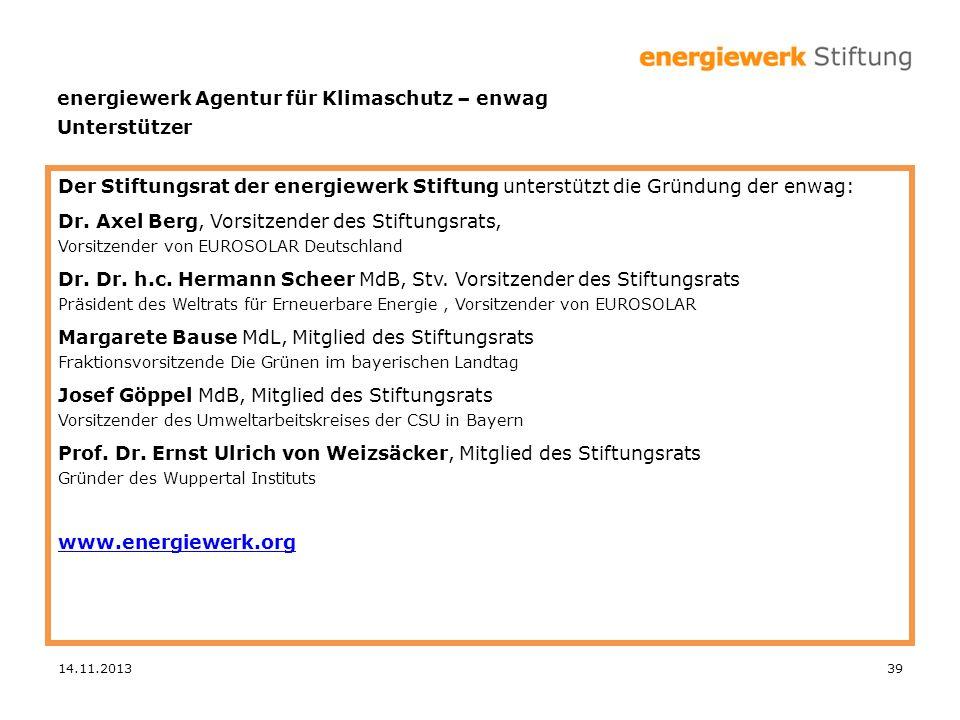 energiewerk Agentur für Klimaschutz – enwag Unterstützer
