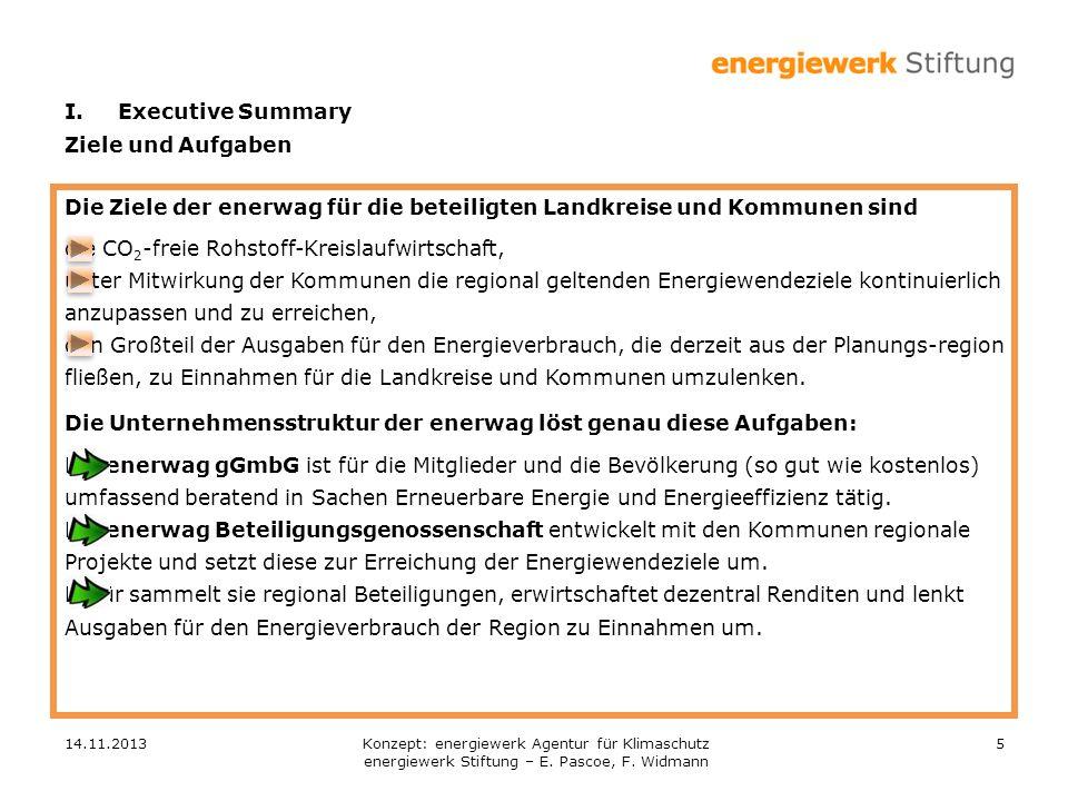 Die Ziele der enerwag für die beteiligten Landkreise und Kommunen sind