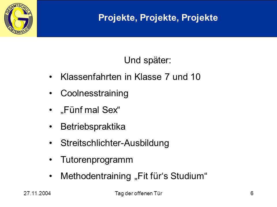 Projekte, Projekte, Projekte