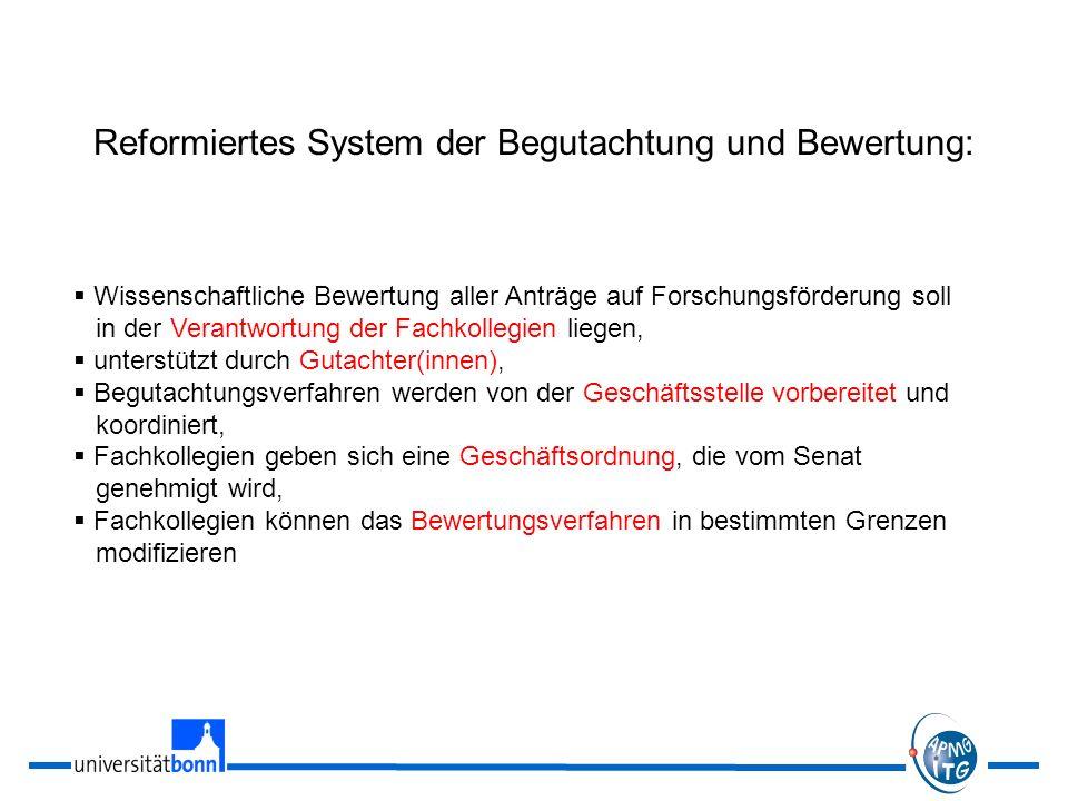 Reformiertes System der Begutachtung und Bewertung: