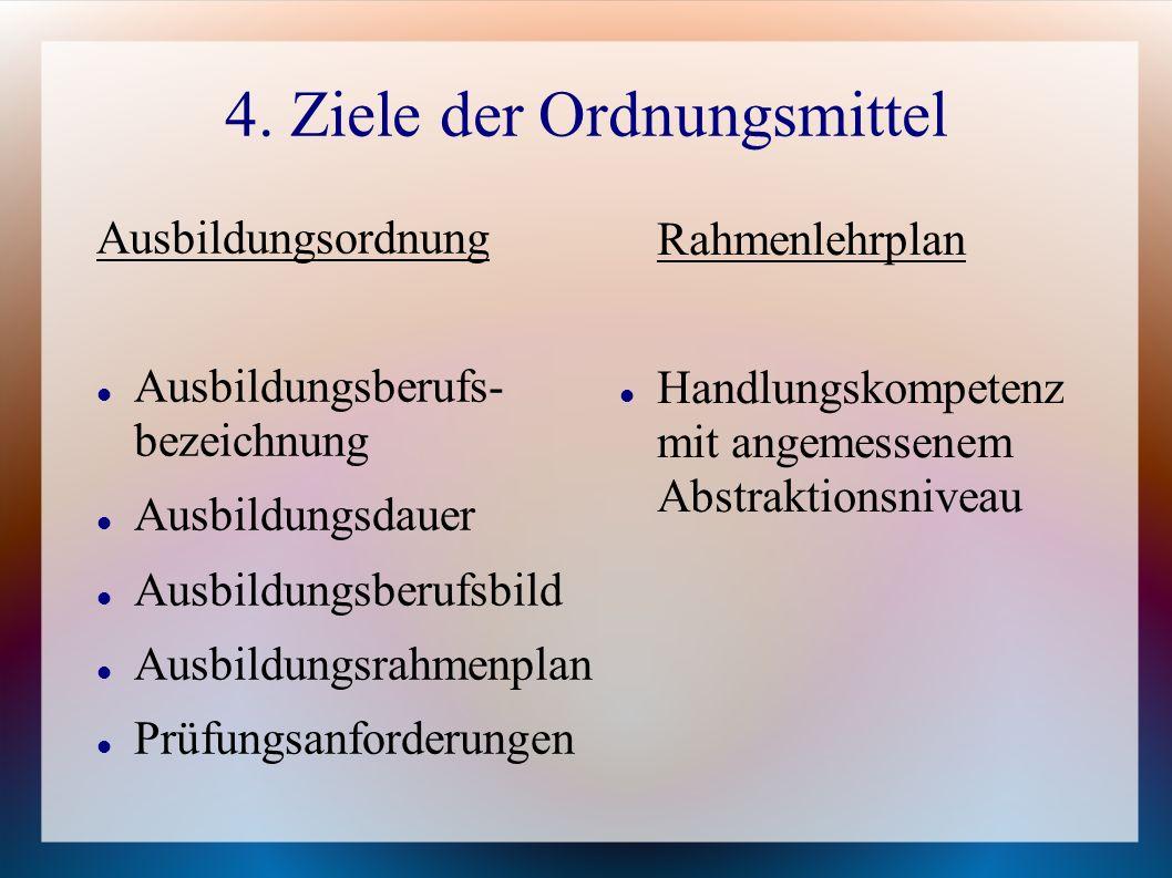 4. Ziele der Ordnungsmittel