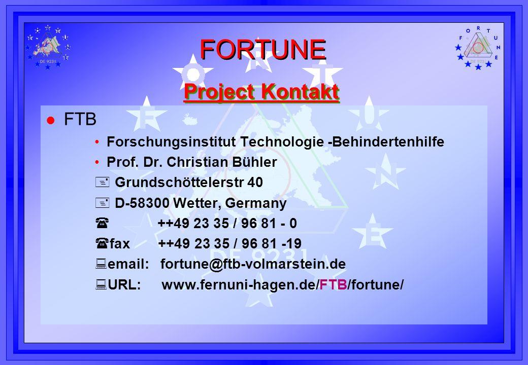 Project Kontakt FTB Forschungsinstitut Technologie -Behindertenhilfe