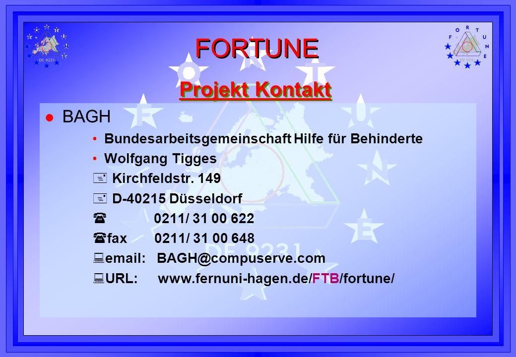 Projekt Kontakt BAGH Bundesarbeitsgemeinschaft Hilfe für Behinderte