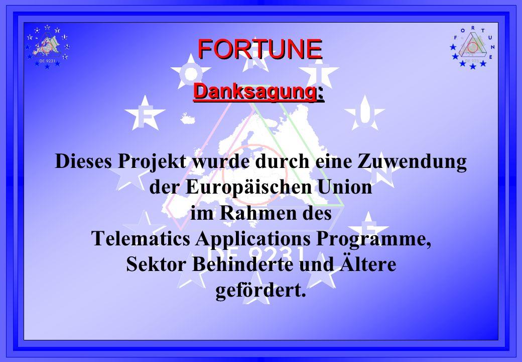 Dieses Projekt wurde durch eine Zuwendung der Europäischen Union