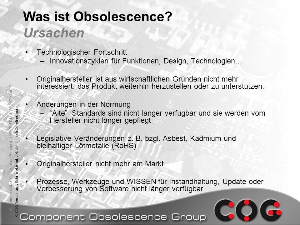 Was ist Obsolescence Ursachen