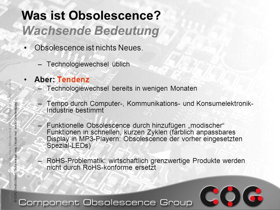 Was ist Obsolescence Wachsende Bedeutung