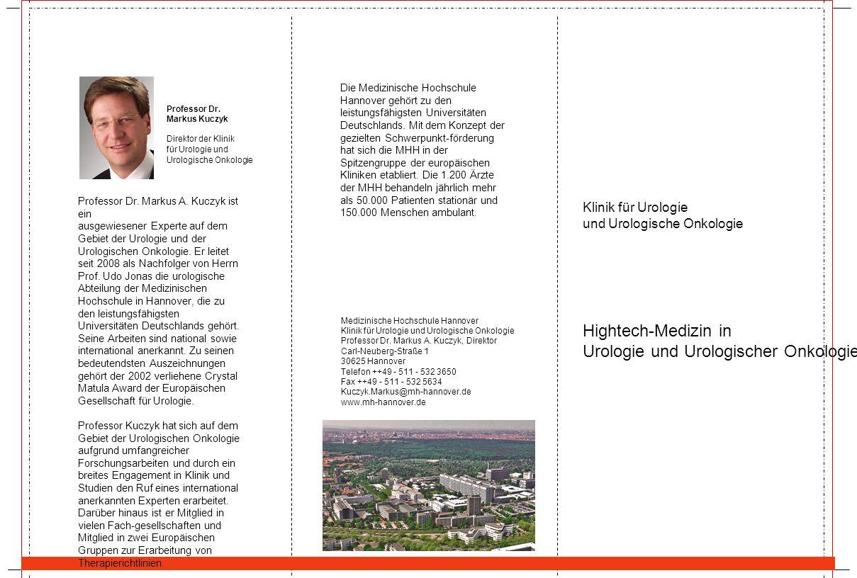 Hightech-Medizin in Urologie und Urologischer Onkologie