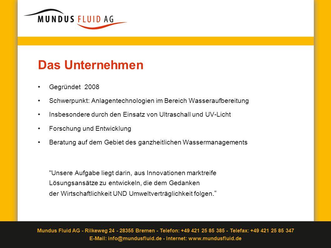 Das Unternehmen Gegründet 2008
