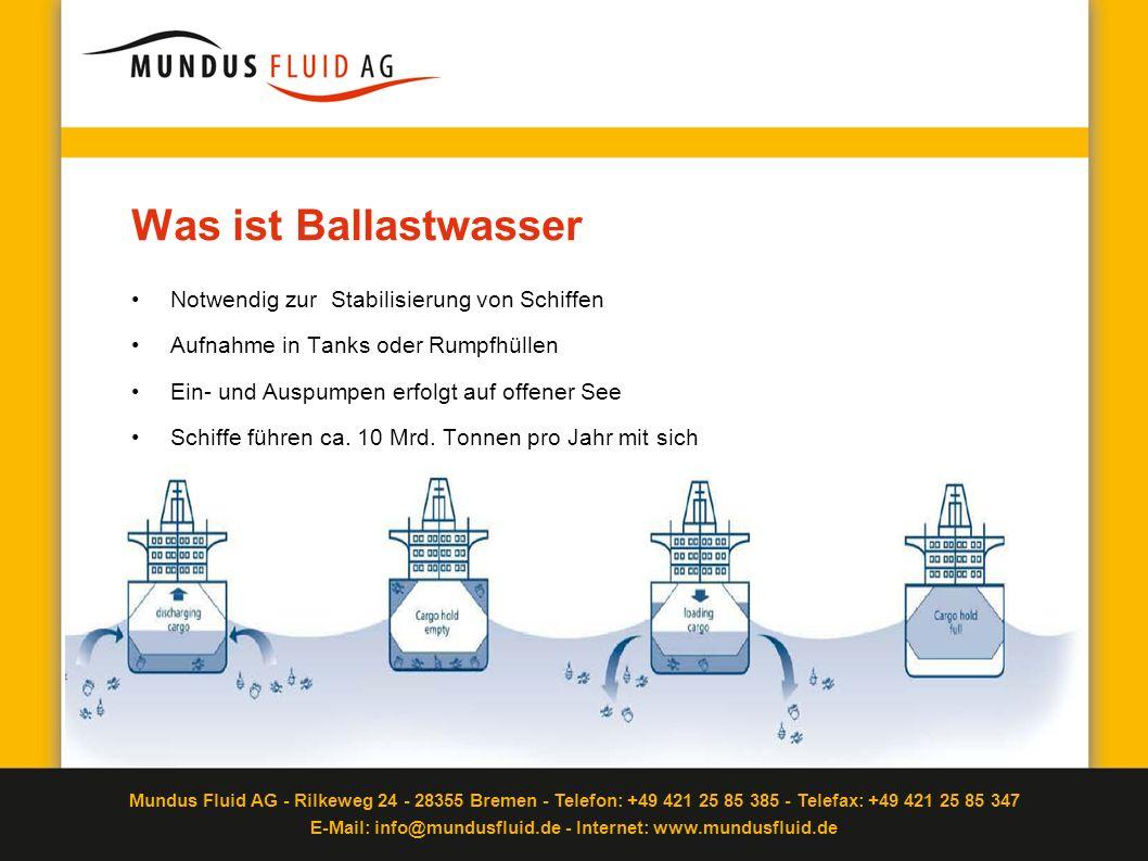 Was ist Ballastwasser Notwendig zur Stabilisierung von Schiffen