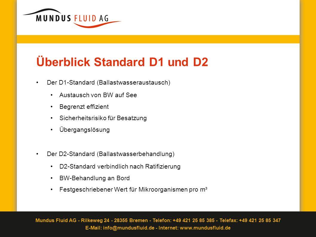 Überblick Standard D1 und D2