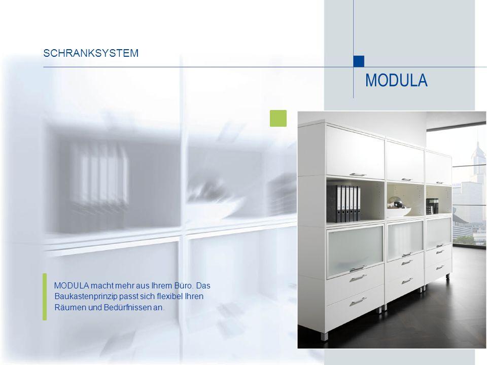 SchrankSYSTEM MODULA. MODULA macht mehr aus Ihrem Büro.
