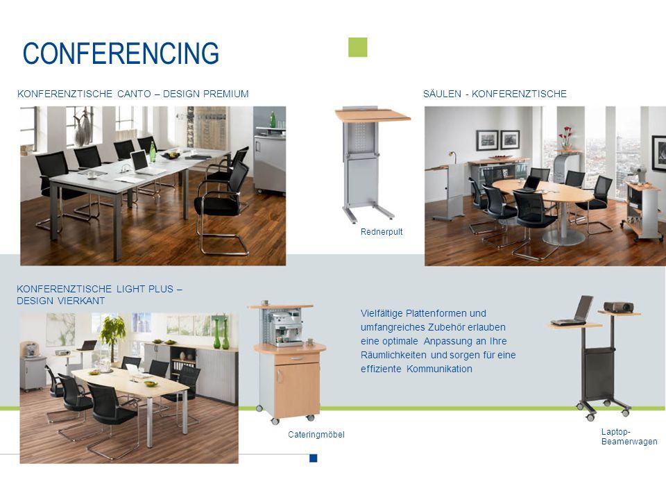 CONFERENCING Konferenztische Canto – design premium