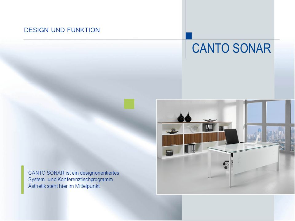 CANTO SONAR Design und funktion