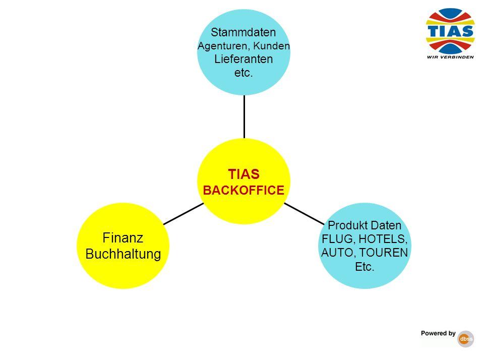 TIAS Finanz Buchhaltung BACKOFFICE Stammdaten Lieferanten etc.