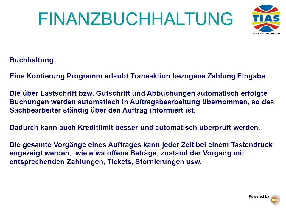 FINANZBUCHHALTUNG Buchhaltung: