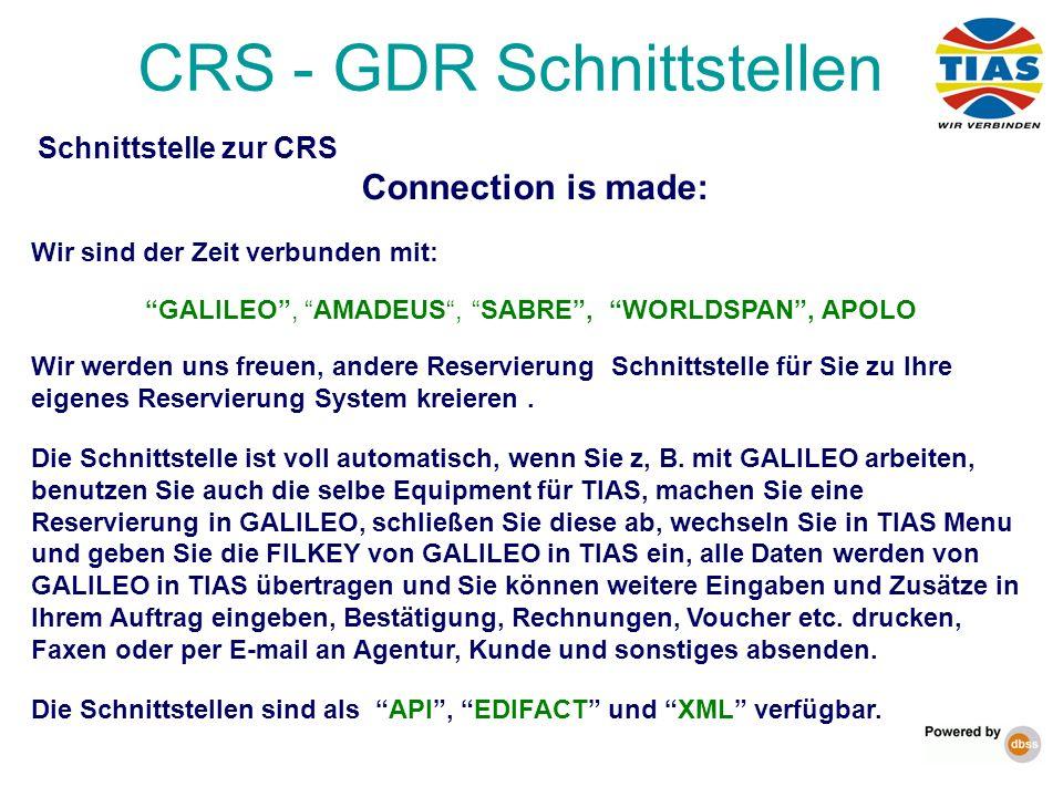 CRS - GDR Schnittstellen
