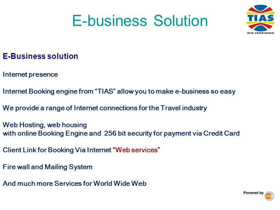 E-business Solution E-Business solution Internet presence