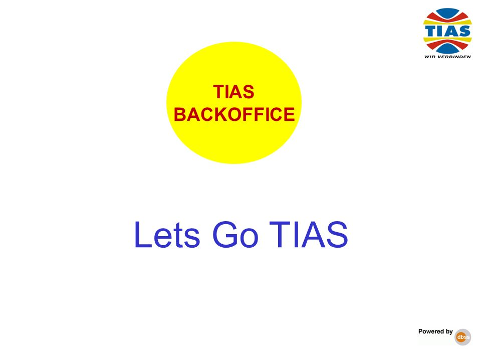 Lets Go TIAS TIAS BACKOFFICE 5