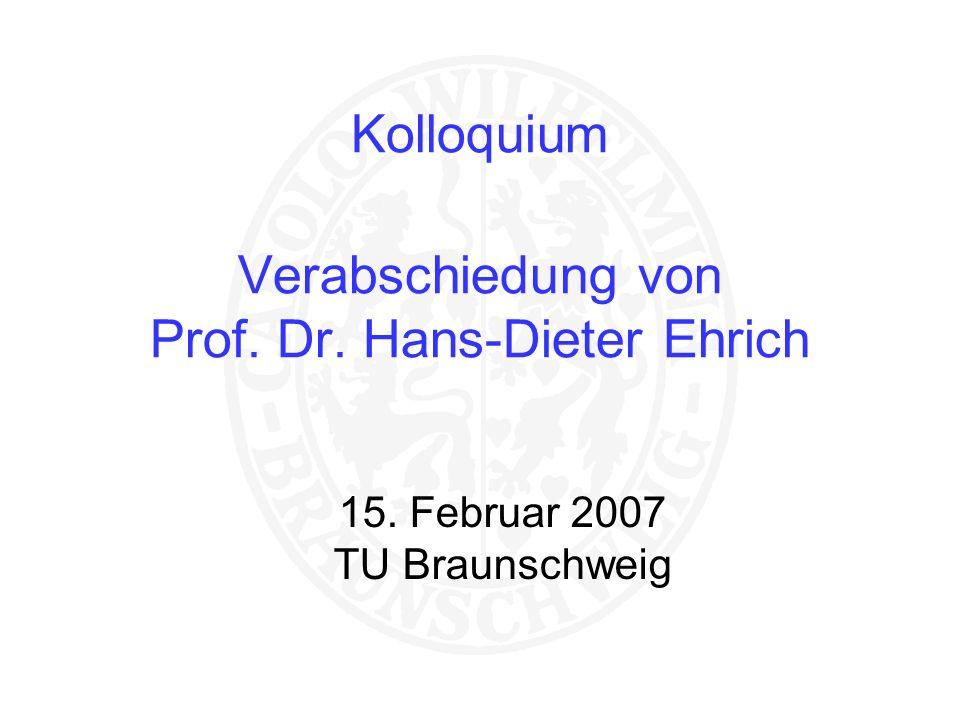 Kolloquium Verabschiedung von Prof. Dr. Hans-Dieter Ehrich