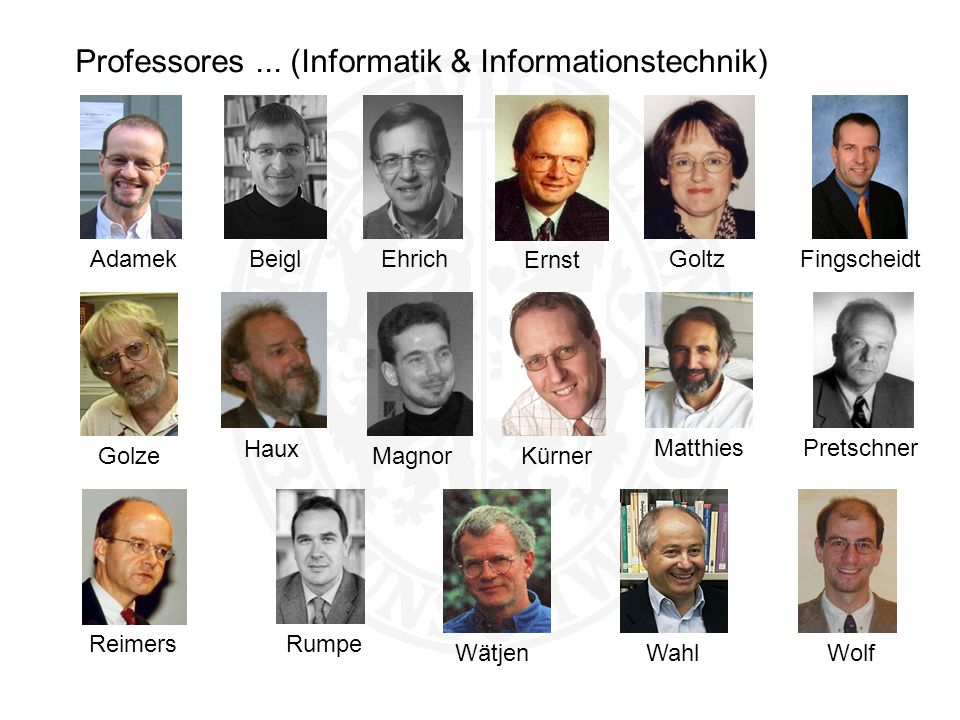 Professores ... (Informatik & Informationstechnik)