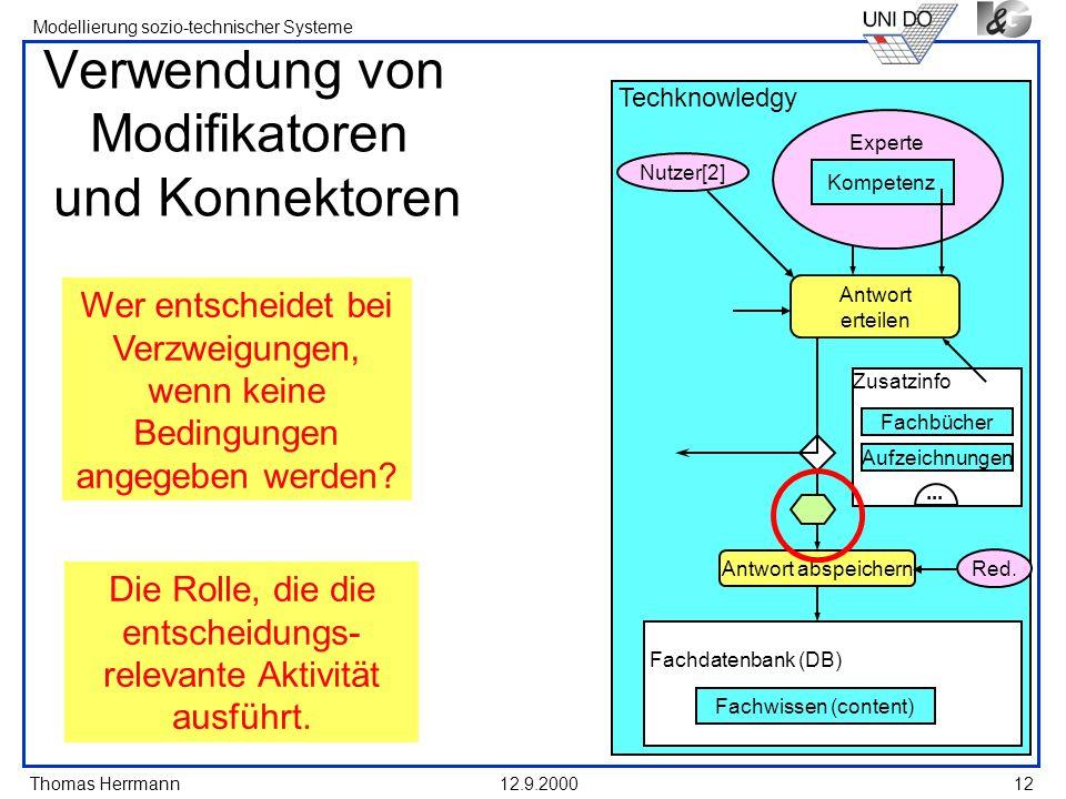Verwendung von Modifikatoren und Konnektoren