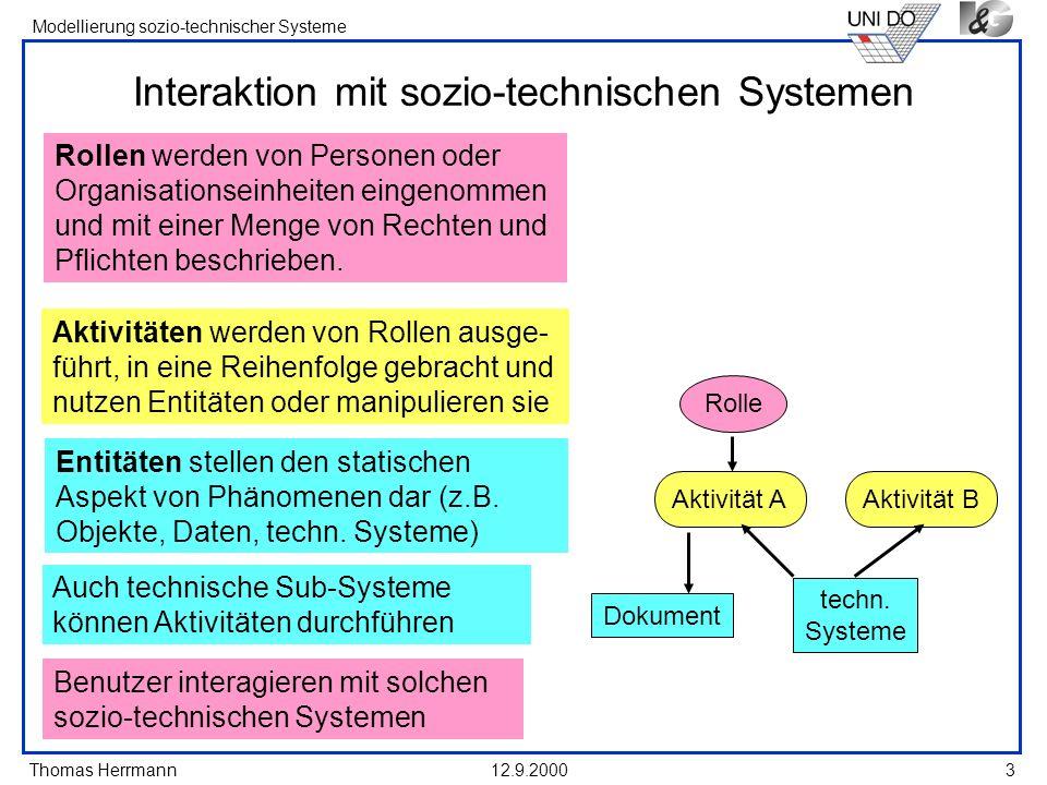 Interaktion mit sozio-technischen Systemen