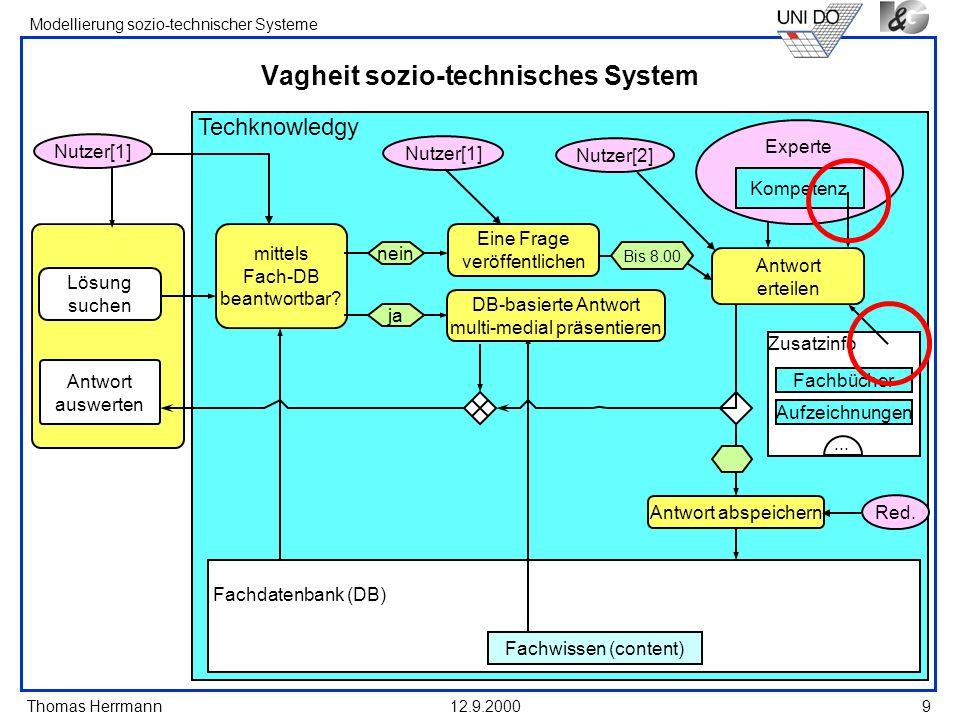 Vagheit sozio-technisches System