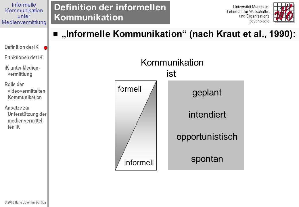 Definition der informellen Kommunikation