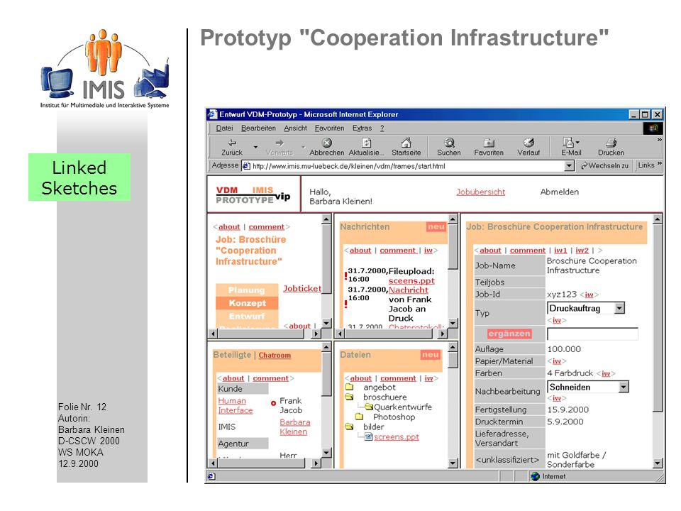 Prototyp Cooperation Infrastructure