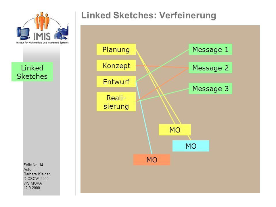 Linked Sketches: Verfeinerung
