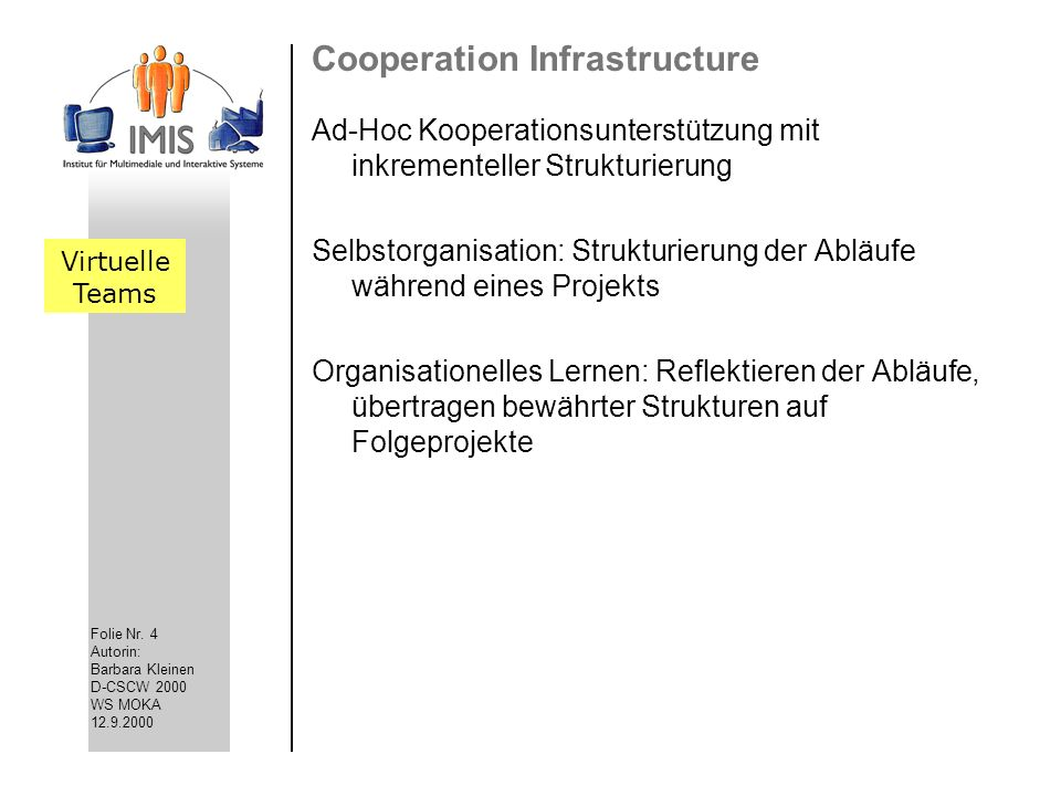 Cooperation Infrastructure