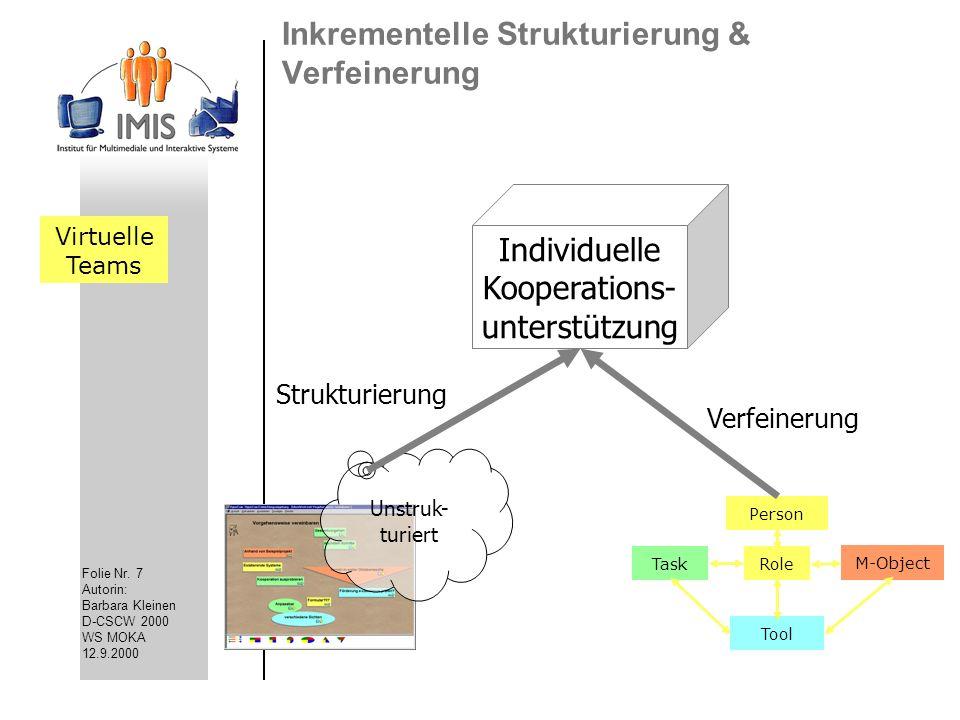 Inkrementelle Strukturierung & Verfeinerung