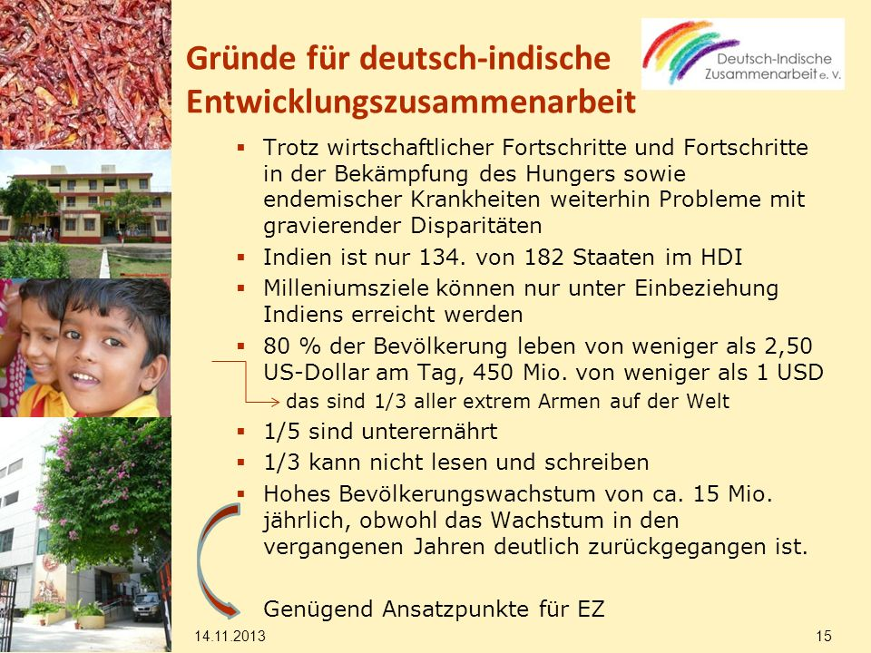 Gründe für deutsch-indische Entwicklungszusammenarbeit