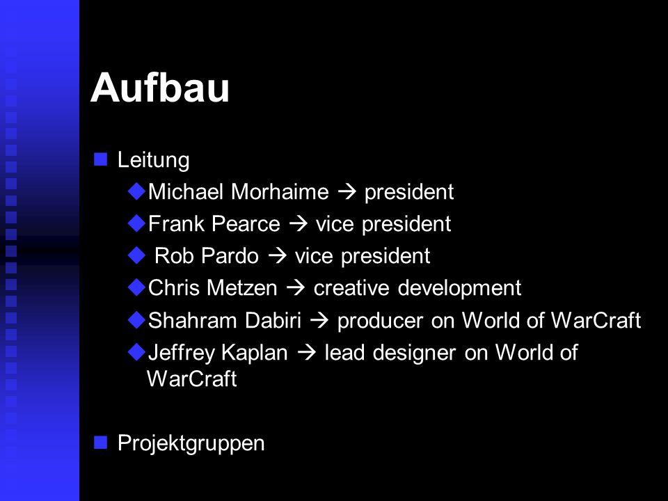 Aufbau Leitung Michael Morhaime  president