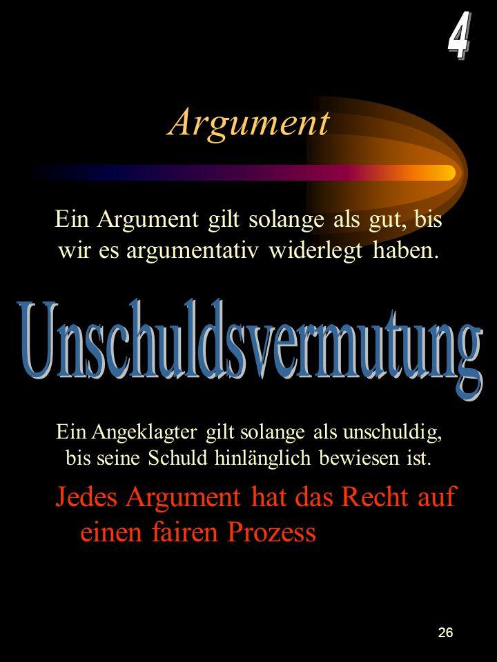 Argument 4 Unschuldsvermutung