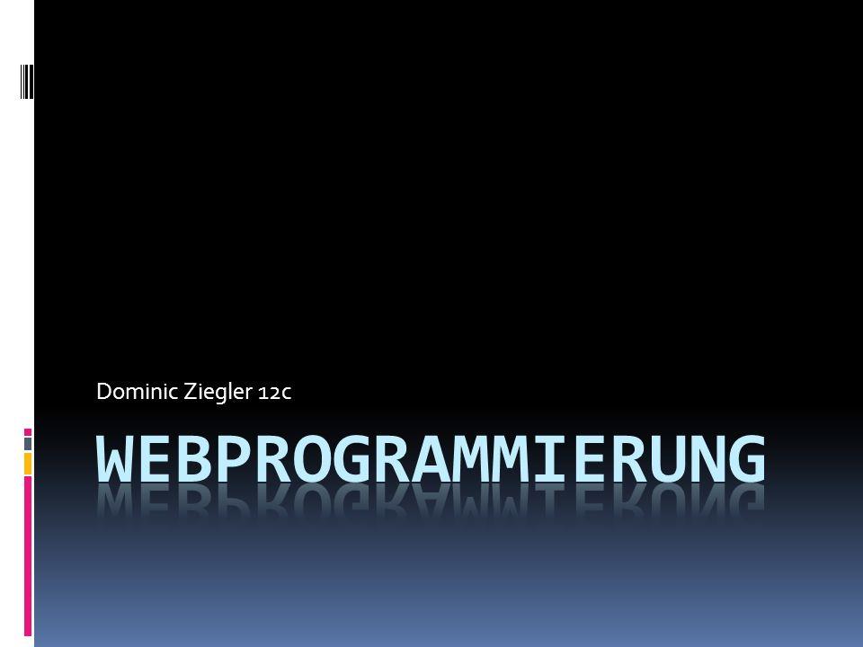 Dominic Ziegler 12c Webprogrammierung