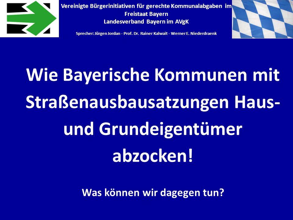Landesverband Bayern im AVgK Was können wir dagegen tun