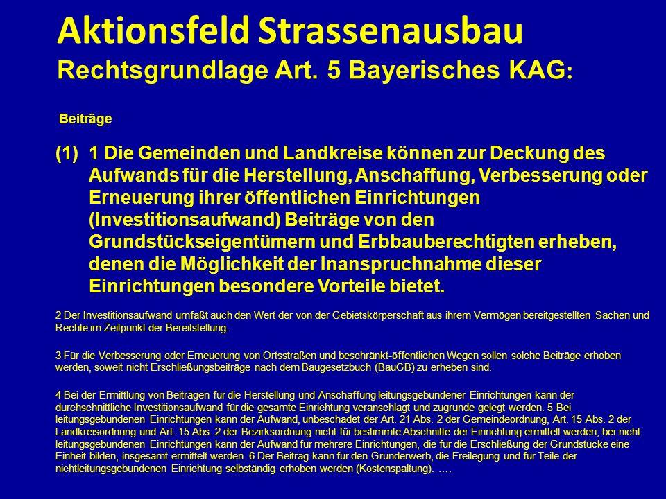 Aktionsfeld Strassenausbau