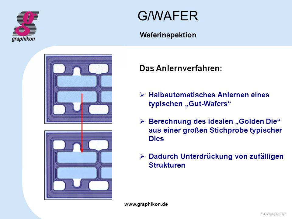 G/WAFER Das Anlernverfahren: Waferinspektion