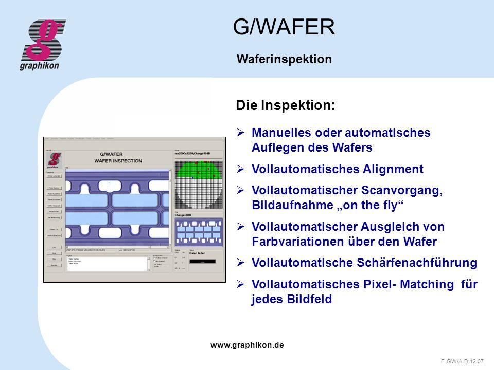 G/WAFER Die Inspektion: Waferinspektion