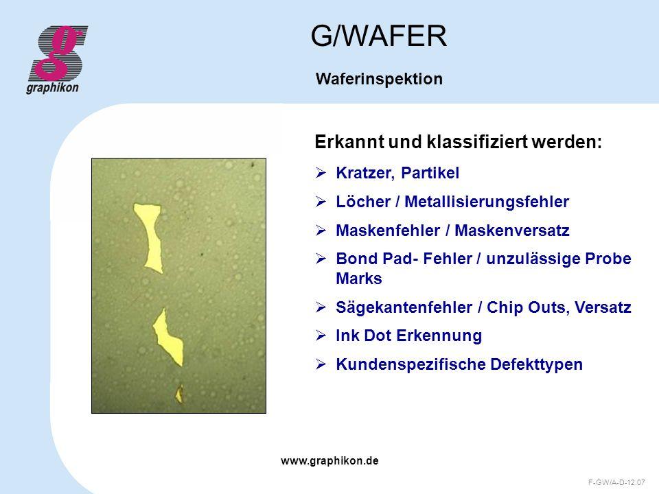 G/WAFER Erkannt und klassifiziert werden: Waferinspektion