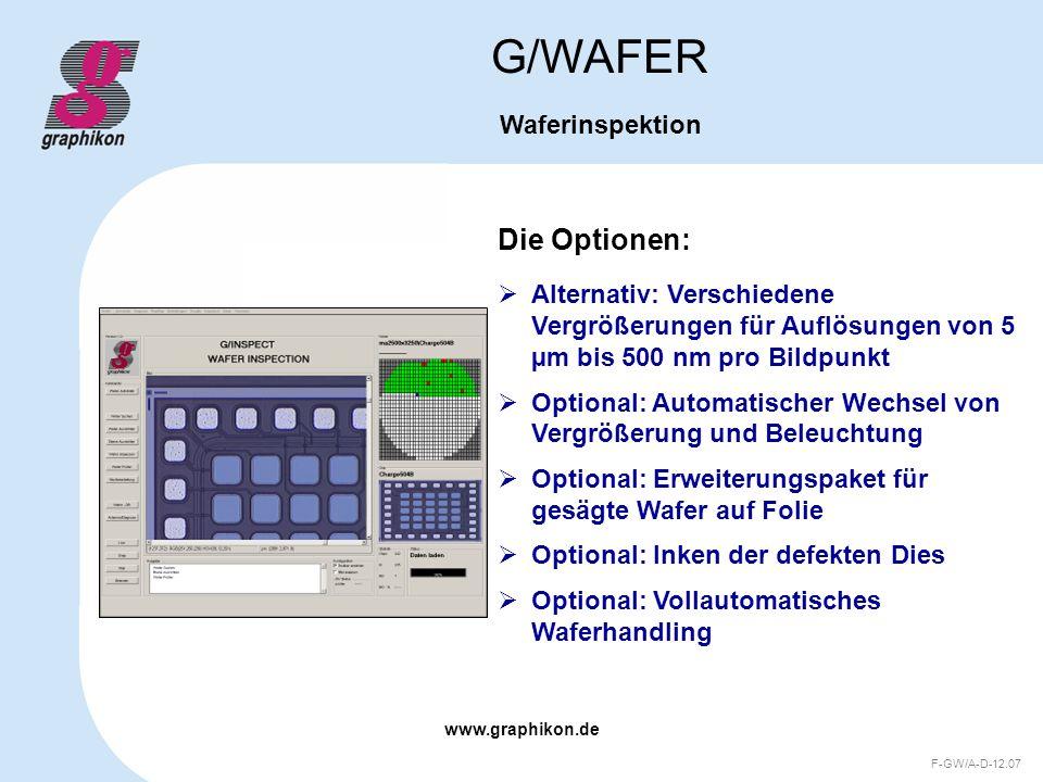 G/WAFER Die Optionen: Waferinspektion