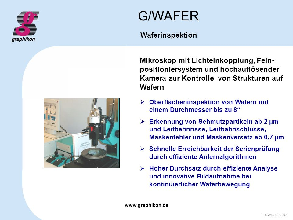 G/WAFER Waferinspektion