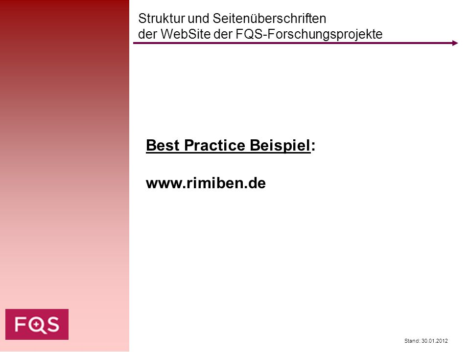 Best Practice Beispiel: www.rimiben.de