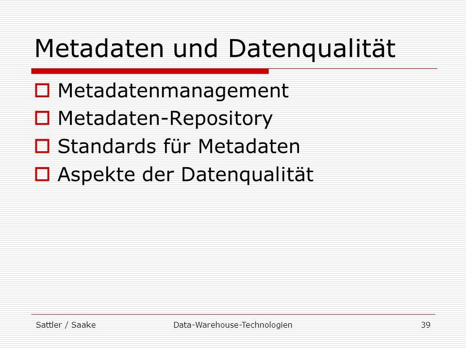 Metadaten und Datenqualität