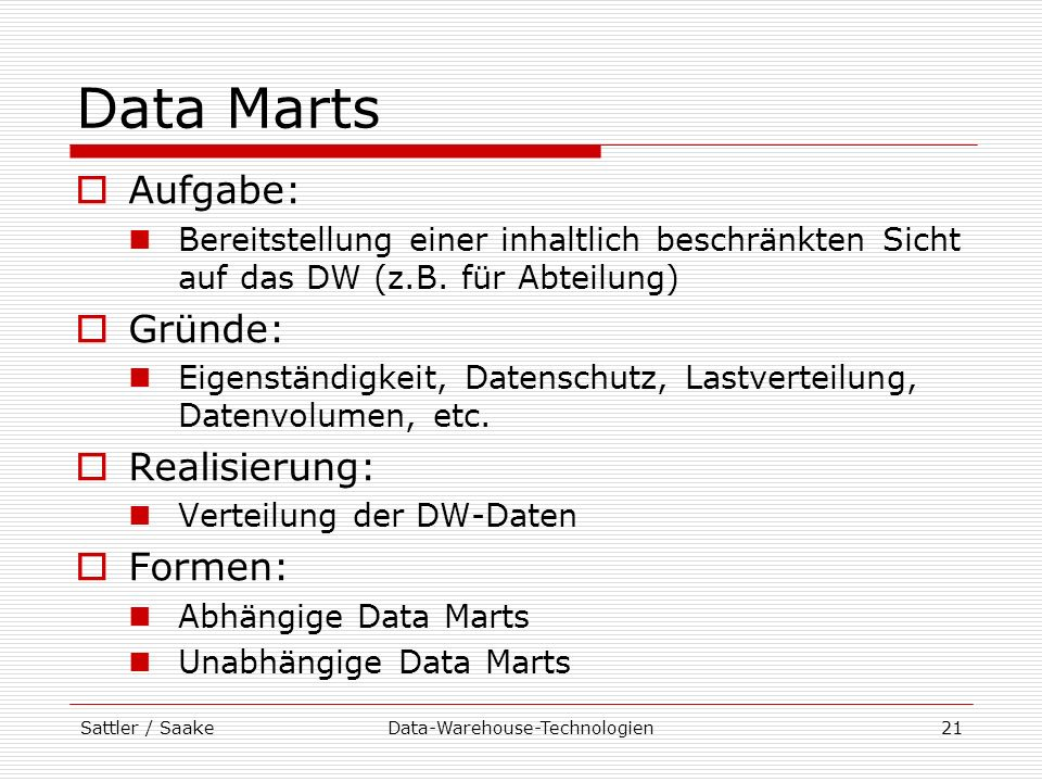 Data-Warehouse-Technologien